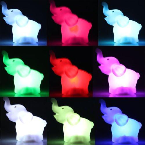[Romantic Elephant Color Changing LED Night Light Lamp Home Kids Room Decor Gift] (70s Plastic Halloween Costumes)