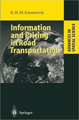 Book Information and Pricing in Road Transportation (Advances in Spatial Science) by Richard H.M. Emmerink (1998-01-01)