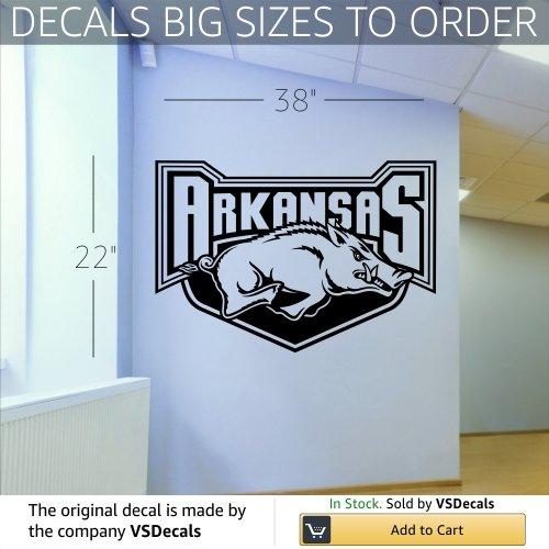 l Sticker Sports Logos Arkansas Razorbacks (S059) (Arkansas Razorbacks Logo Wall)