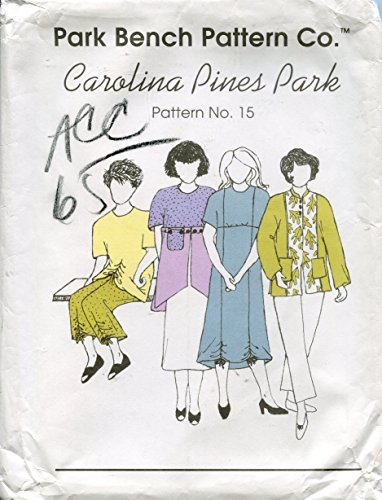 Park Bench Pattern 15 Carolina Pines Park Dress, Skirt, Top, Pants, Jacket