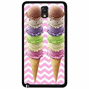 Zheng caseIce Cream Cones TPU RUBBER SILICONE Phone Case Back Cover Samsung Galaxy Note III 3 N9002