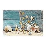 Fantasy Star Aquarium Background Fishing Net Sand Starfish Shell Easy to Apply and Remove Fish Tank Wallpaper Sticker Background Decoration 35.4''x19.6''