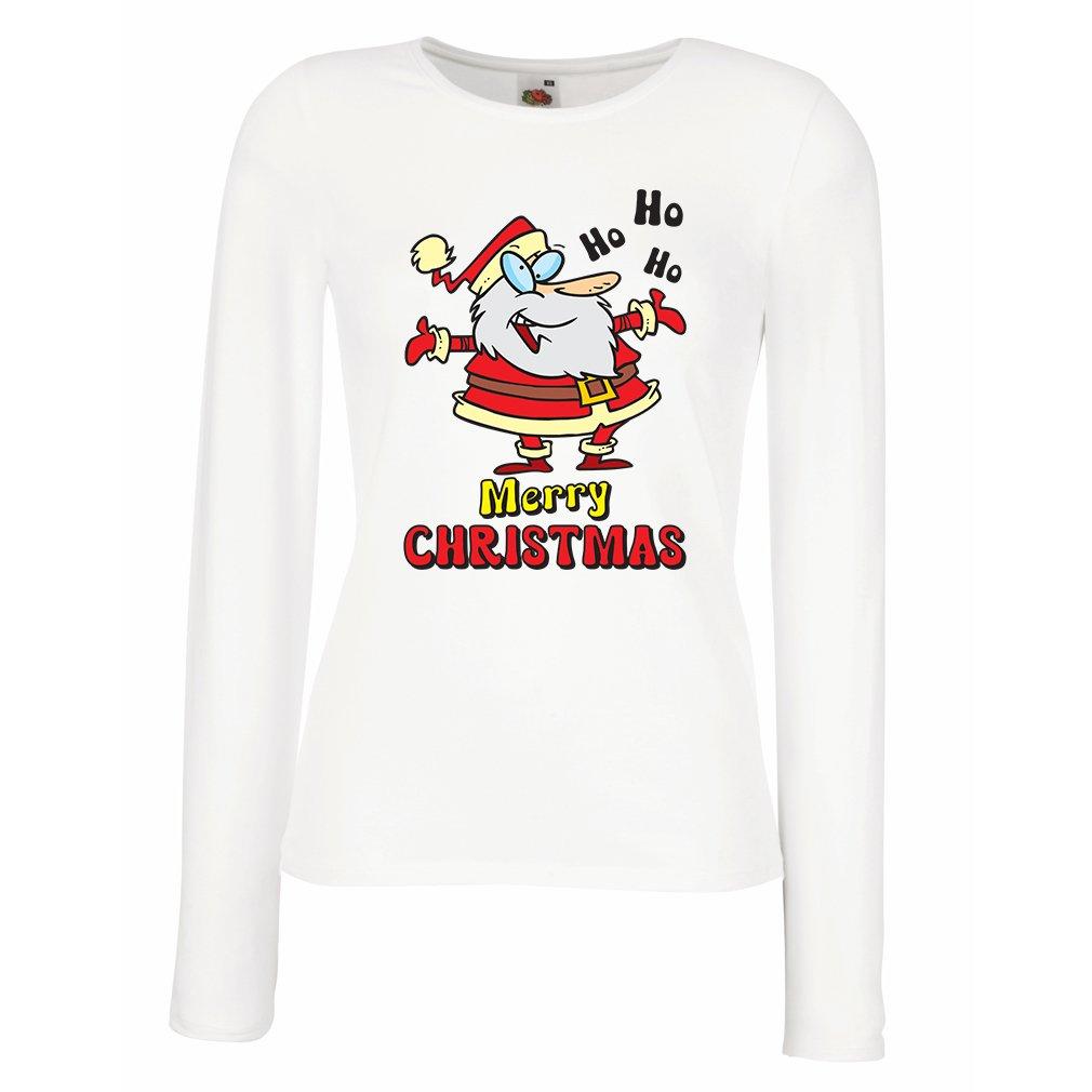 S T Shirt Ho Ho Ho Dancing Santa Christmas Vacation Shirt 9674