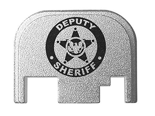 Billet Badge (for Glock Back Plate Gen 1-4 17 19 21 22 23 27 30 34 36 41 Silver NDZ - Deputy Sheriff Badge Eagle)