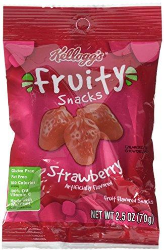 Fruit Snacks Strawberry (Kellogg's Fruity Snacks, Strawberry, 2.5 Ounce (Pack of 48))