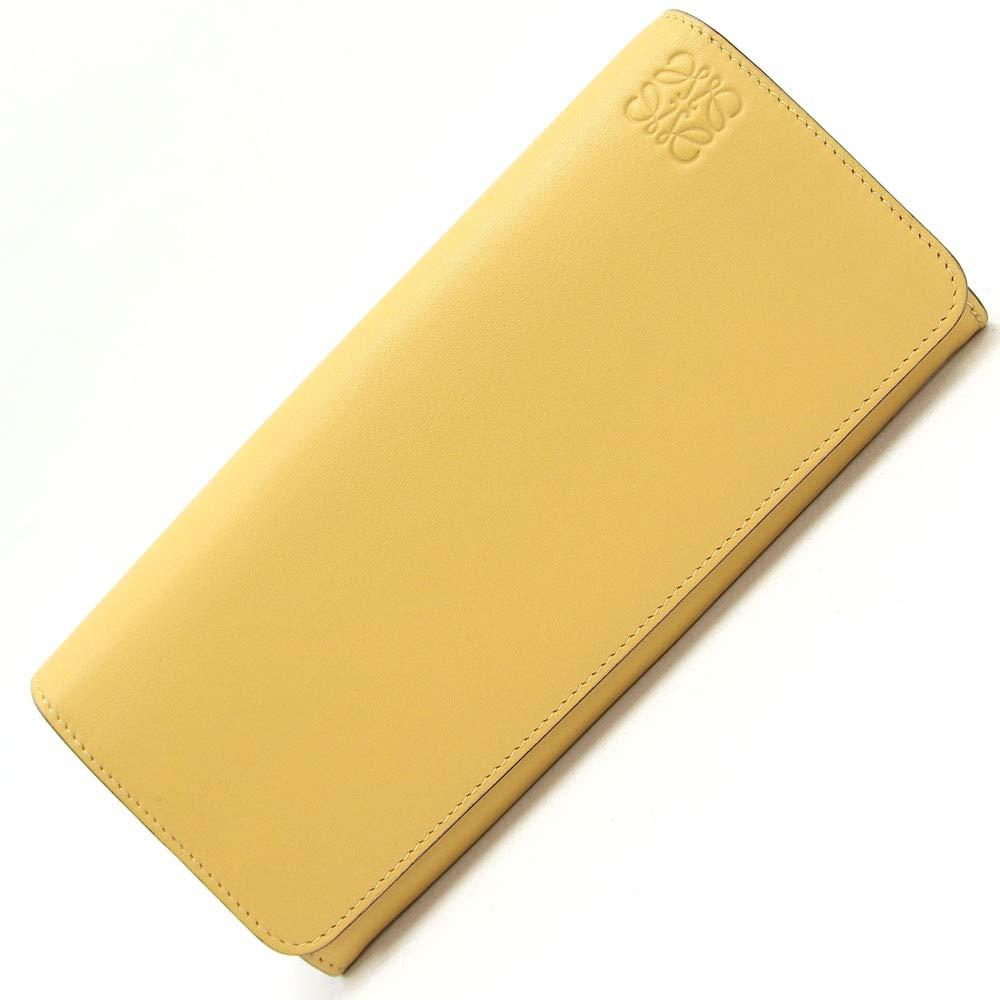 Loewe(ロエベ) 二つ折り長財布 スタンプ 109.54F11 ベージュ レザー 中古 黄 ロングウォレット LOEWE [並行輸入品]   B07PS765Q9