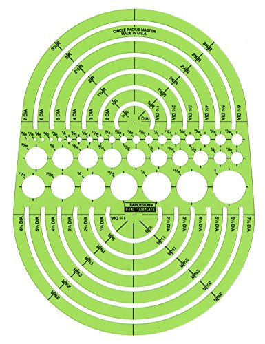 Rapidesign Circle Radius Master Template, 1 Each (R142)