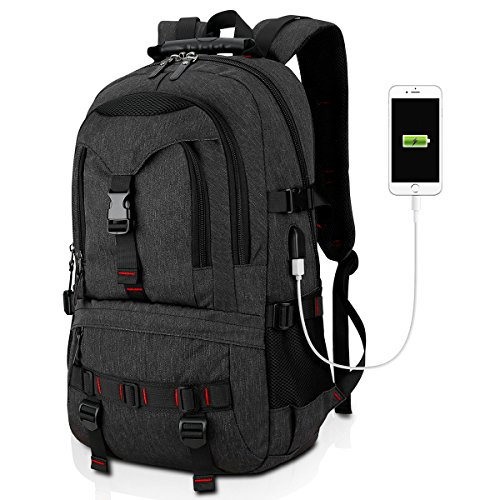 Tocode Water Resistant Laptop Backpack with USB Charging Por