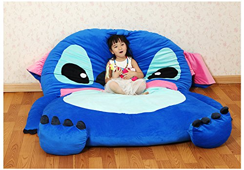 Why Choose Cute Cartoon Lilo&Stitch Image Sleeping Bag Sofa Bed Twin Bed Double Bed Mattress for Kid...