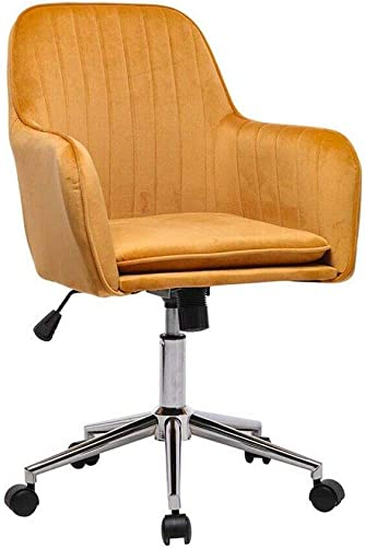 Leyo Ergonomic Office Chair Lumbar Support Home Desk Chairs Wheels Computer Chair Chic Velvet Accent Chair