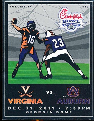 2001 Virginia vs Auburn Chick-Fil-A Bowl Football Program nm