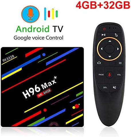 LFYPSM H96 MAX Plus Control De Voz Smart TV Box Android 8.1RK3328 4K Media Player QuadCore 4GB Ram 64GB ROM 2.4G / 5G WiFi,32G-Standard: Amazon.es: Hogar