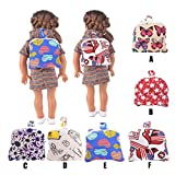 Sunward Doll Travel Backpack With Plush Friend Compartment (Fits American Girl Dolls) (B)