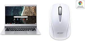 "Acer Chromebook 514, CB514-1HT-C7AZ, Intel Celeron N3450, 14"" Full HD Touch Display with Acer Wireless White Mouse M501 - Certified by Works With Chromebook"