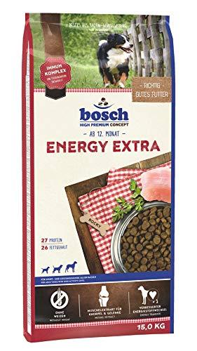 bosch HPC Energy Extra   Hundetrockenfutter für Sport- und Leistungshunde aller Rassen   1 x 15 kg