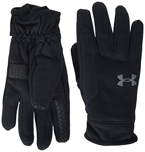 Under Armour Boys Storm Elements Gloves, Black (001)/Graphite, Youth Large