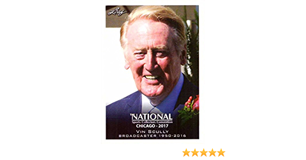 2017 Leaf National Convention #VIP-01 Vin Scully Baseball Card