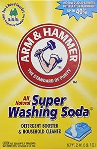 2 Boxes (55oz ea) Arm & Hammer Super Washing Soda Detergent Booster & Household Cleaner