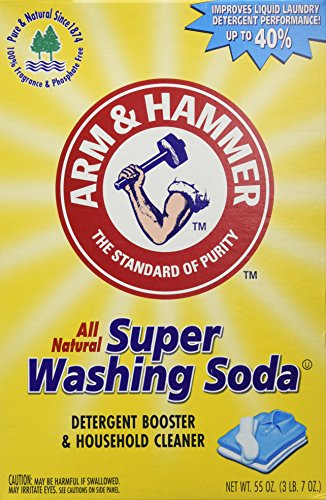 2 Boxes (55oz ea) Arm & Hammer Super Washing Soda Detergent Booster & Household Cleaner