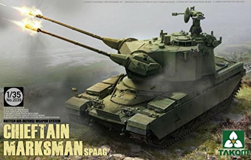 Takom 1:35 British Air-defense Weapon System Chieftain Marksman SPAAG Kit #2039