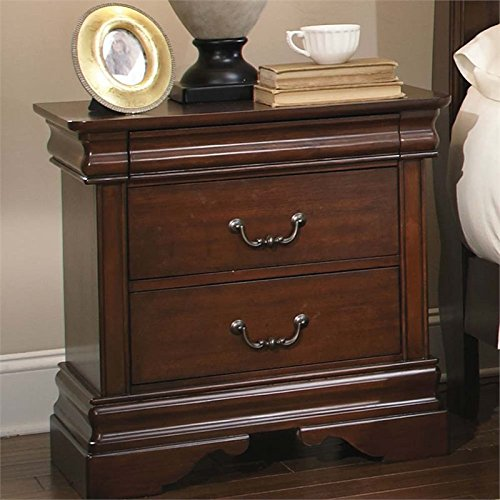 Liberty Furniture Industries 709-BR61 Mahogany Stain Finish Carriage Court Night Stand, 27 x 17 x 27