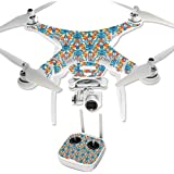 MightySkins Protective Vinyl Skin Decal for DJI Phantom 3 Professional Quadcopter Drone wrap cover sticker skins Sunset Flowers