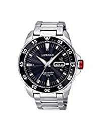 J Springs BEB063 Men's Automatic Sports Silver Stainless Steel Band Black Dial Watch