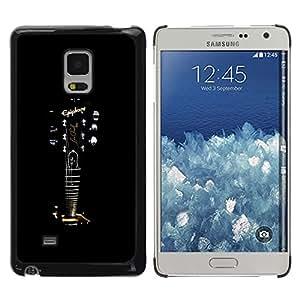 TopCaseStore / la caja del caucho duro de la cubierta de protección de la piel - Epiphone Guitar - Samsung Galaxy Mega 5.8 9150 9152