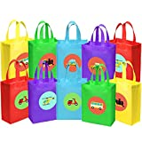 Ava & Kings 10 pack Reusable Party Favor Kids Goodie Bags - Transportation