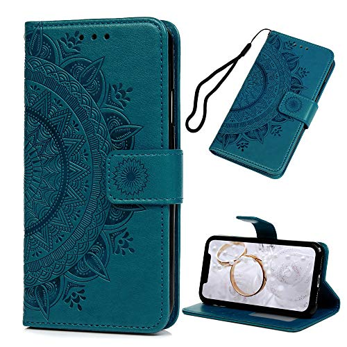 - iPhone XR Case 6.1 inch, Wallet Flip Folio Case Kickstand Card Slots Embossed Mandala Flower Floral PU Leather Wallet Shockproof Soft TPU Inner Bumper Slim Protective Skin Cover for iPhone XR