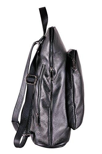 In Bag Made Black Women Diamond backpack 100 Borderline Italy Leather qI4yaEB6wH