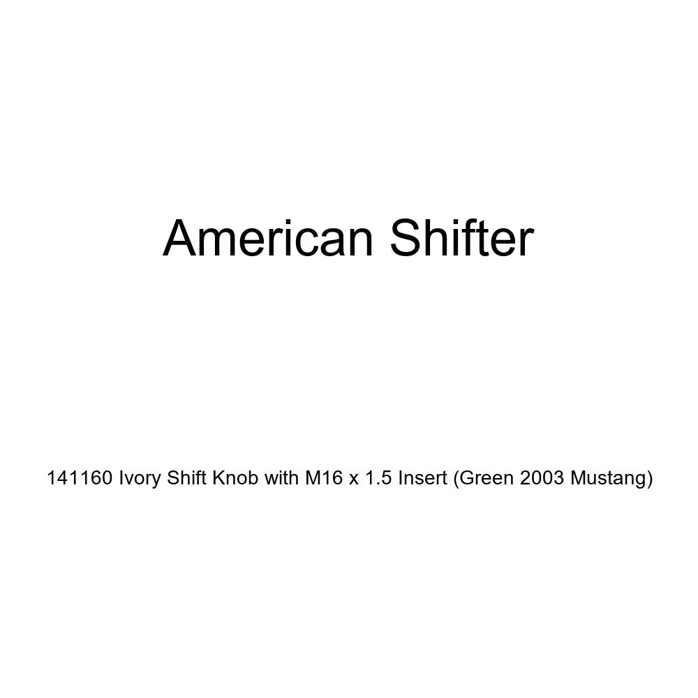 American Shifter 141160 Ivory Shift Knob with M16 x 1.5 Insert Green 2003 Mustang
