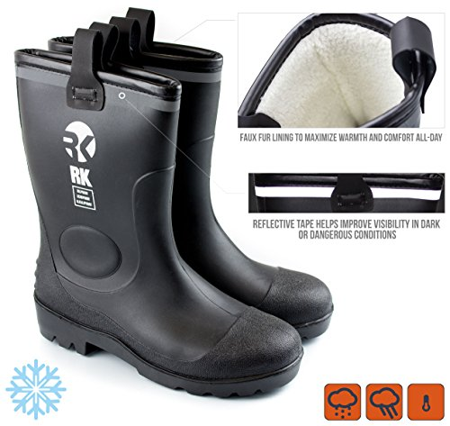 insulated waterproof rubber boots - 7
