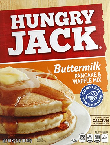 Pantry Buttermilk Pancake - Hungry Jack Complete Buttermilk Pancake and Waffle Mix, 32 Ounce