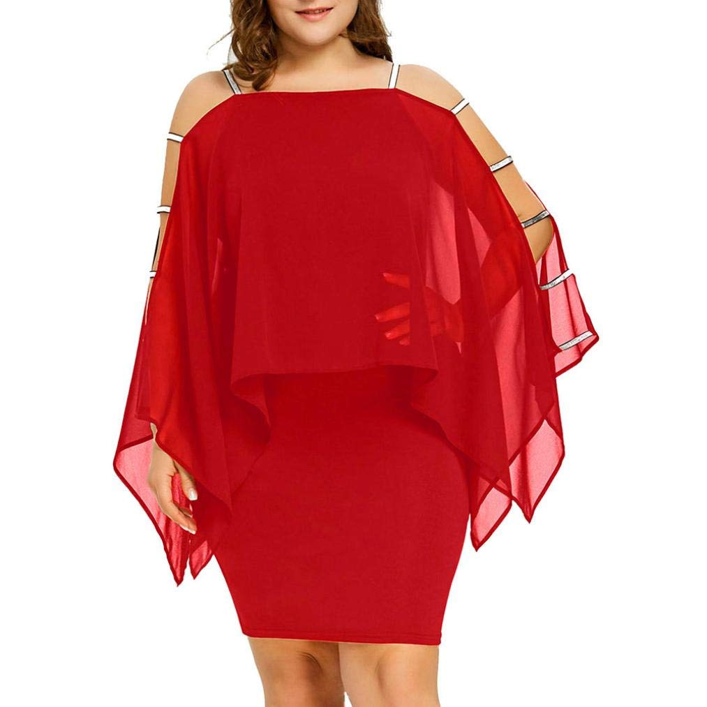 Plus Size Dress,Gillberry Womens Clearance Chiffon Strapless Mini Dress