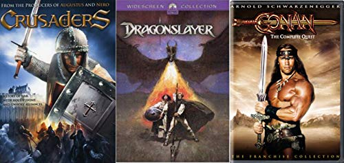 Medieval Action & Adventure Swords and Dragons 3-Movie Collection - Conan: The Complete Quest with The Barbarian and Destroyer, Dragonslayer, & Crusaders 3-DVD Bundle ()