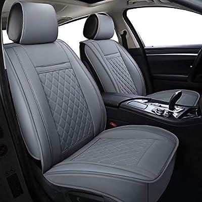 LUCKYMAN CLUB Grey Car Seat Covers Fit for Kia Optima Sportage Rondo Rio Outback Crosstrek Forester Legacy Impreza Ford Focus Fusion Escape Honda Civic Accord CR-V (Gray): Automotive