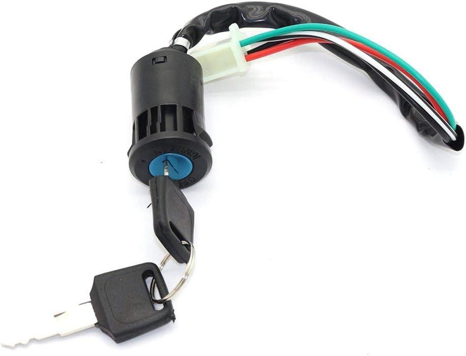 Interrupteur /à cl/é /à 4 fils pour 50cc 110cc 125cc 250cc PIT Quad Dirt Bike ATV /& couleur: noir