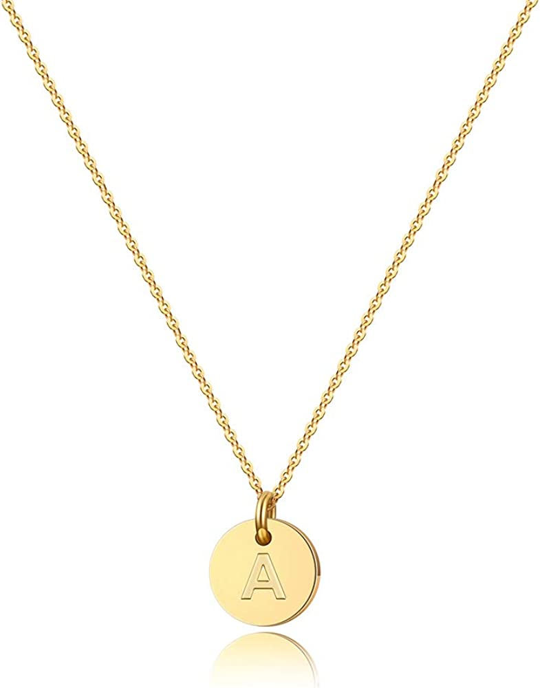 Letter H Necklace Name Necklace Initial Monogram Personalised Custom Engraved Disc Pendant Jewelry Sterling Silver Womens Girls UK Gift