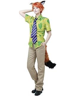 Miccostumes Menu0027s Fox Nick Wilde Cosplay Costume
