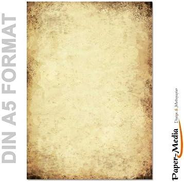 DIN A5 Format 100 Blatt Motiv-Briefpapier ALTE PAPIERROLLE