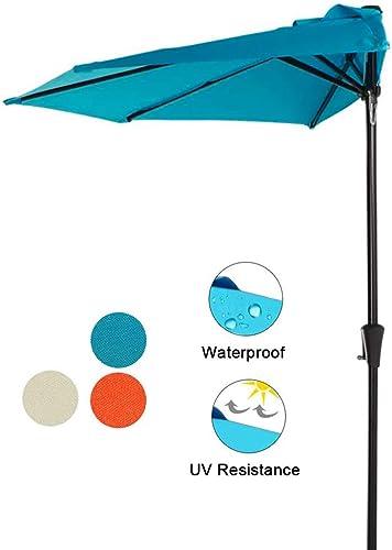 COBANA 9 Half Round Patio Outdoor Umbrella