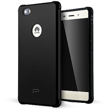 Huawei P8 Lite Funda,Lizimandu Protectiva Carcasa de Silicona de gel TPU Transparente, Ultra delgada, Resistente a los arañazos en su parte trasera, ...