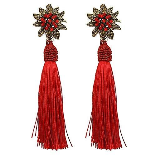Aretes Pendientes Joyería Fina Prendas de Moda Mujer Modernos Brincos Flores