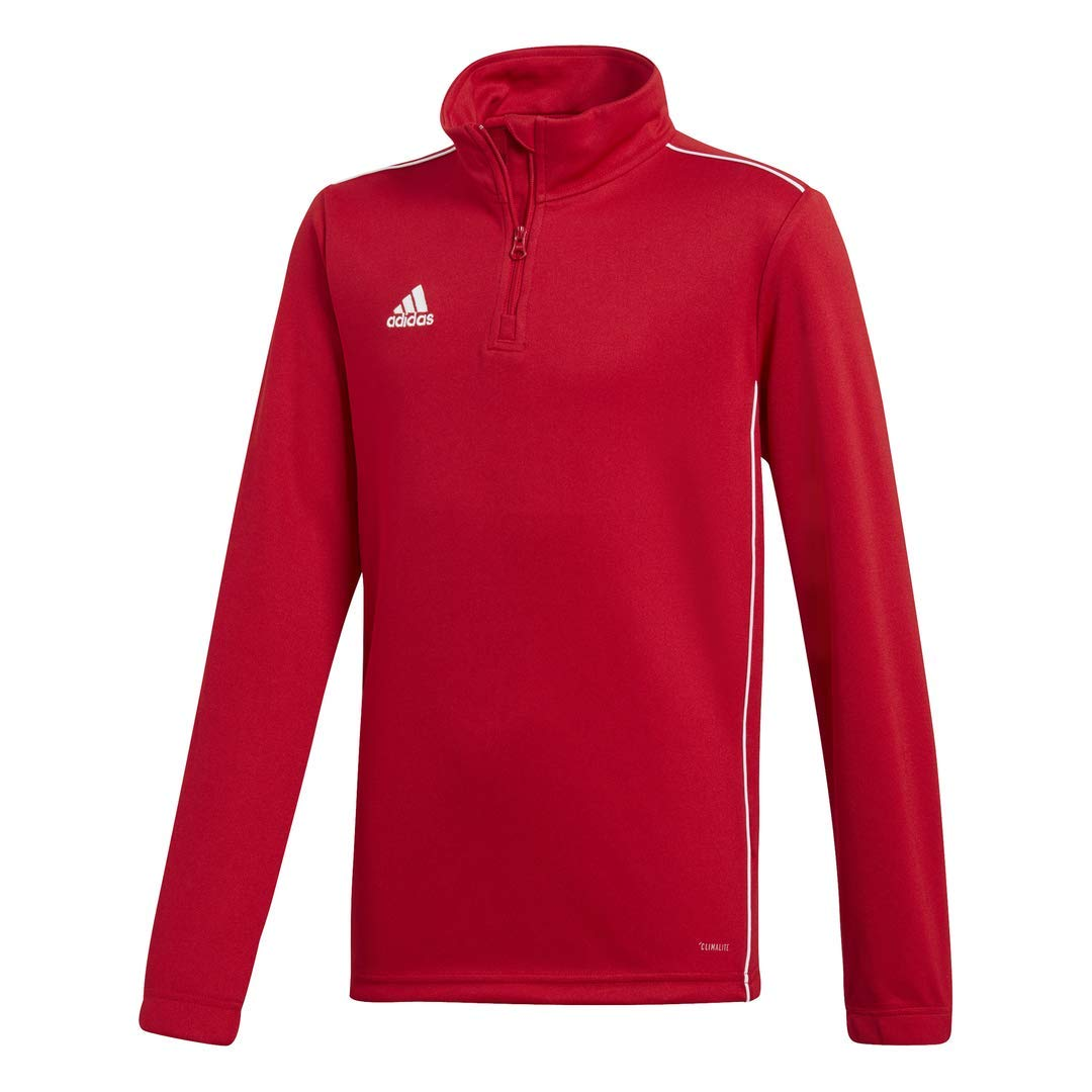 adidas Juniors' Core 18 Soccer Training Sweatshirt, Power Red/White, X-Small