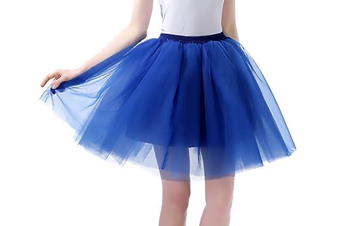 01e5462478 Falda Tul Tutu Mujer Múltiples Capas Tul Falda Danza Ballet Falda A-Lìnea  Cintura Elástica