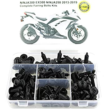 Xitomer Full Sets Fairing Bolts Kits, for KAWASAKI Ninja300 EX300 Ninja250 2013 2014 2015 2016 2017 2018 2019, Mounting Kits ...