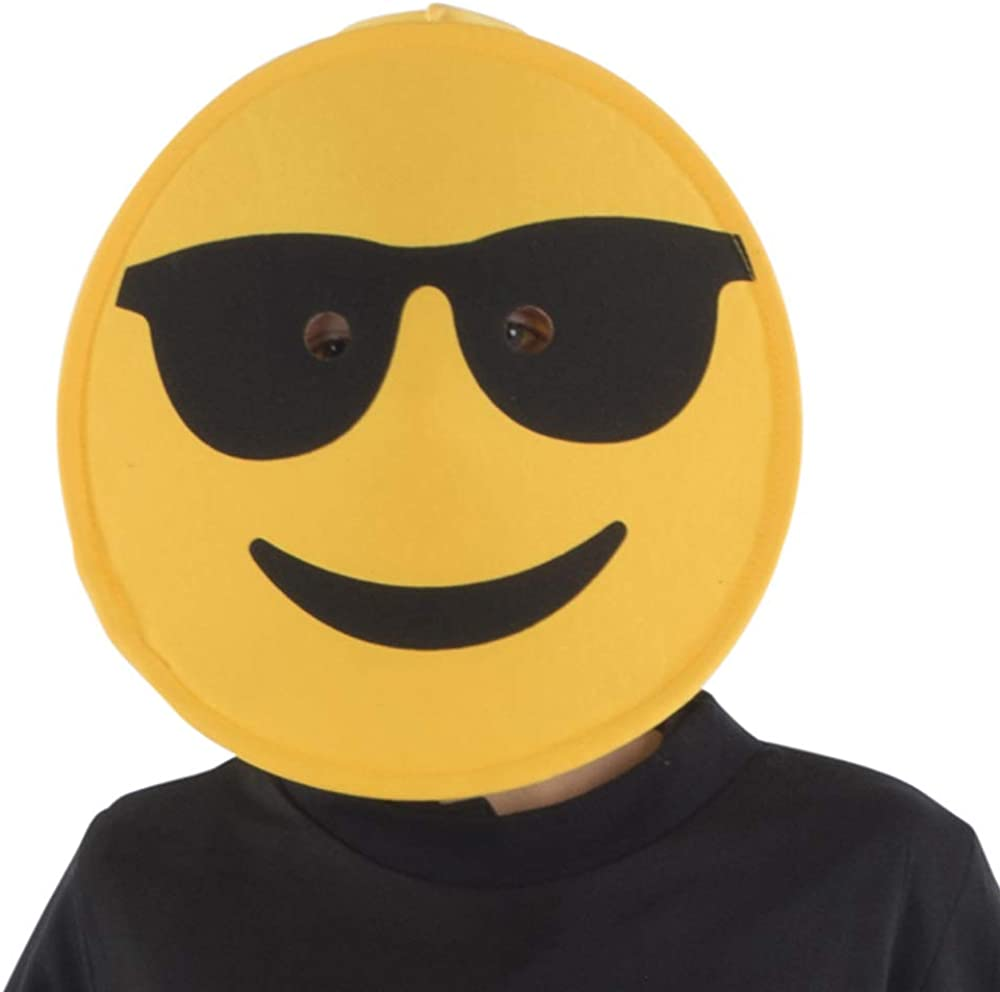 Dress Up America Sunglasses Emoji Mask For Adults Disfraces, Multi ...