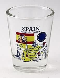 Vaso de chupito Landmarks and Icons serie UE, España.: Amazon.es: Hogar