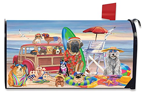 Briarwood Lane Dog Days of Summer Mailbox Cover Beach Dog Humor Station Wagon by Briarwood Lane